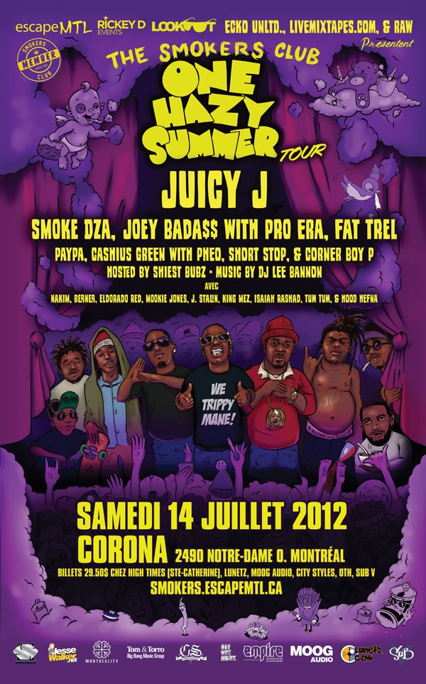 The Smokers Club Tour 2012 - Juicy J, Smoke DZA, Joey Badass