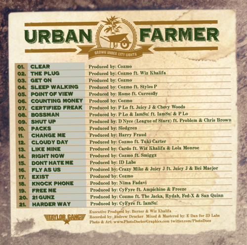Berner-UrbanFarmer_Tracklist_Final